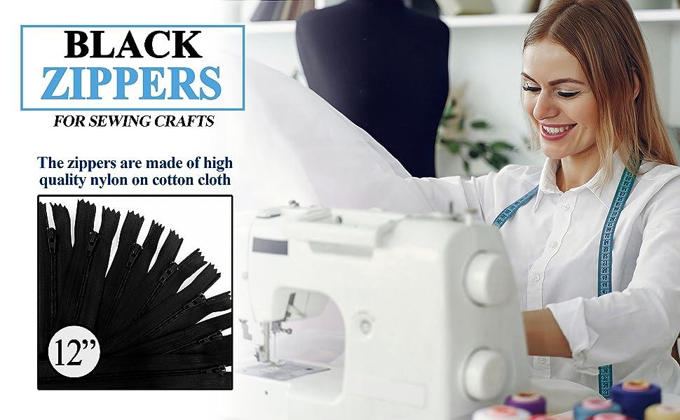 KGS 12 inch Black Zipper