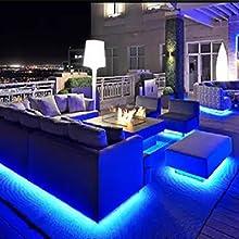 waterproof blue rope lights