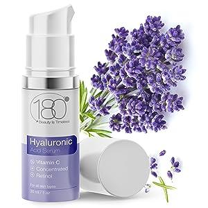 Hyaluronic Acid Face Serum Vitamin C Peptides Vitamin E anti-aging Witch Hazel  Aloe Vera