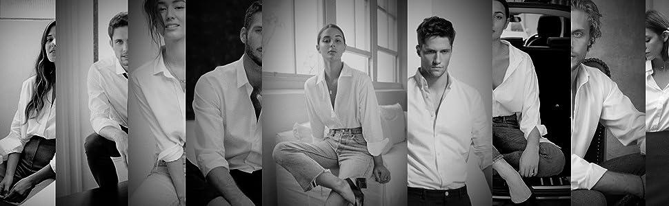 Safed white shirt men and women image