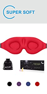 red sleeping mask for lady