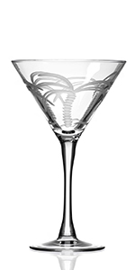 Palm Tree Martini Glass