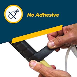 Fusion Tape does not have adhesive.  It fuses to itself to seal.