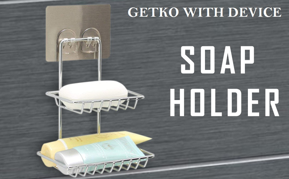 Wall Mounted Double Layer soap Dish Holder