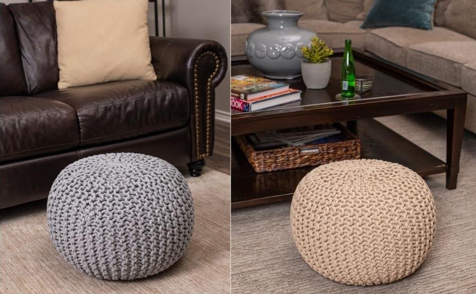 velvet ottoman, stool, chair, pouf, woven pouf, living room seating, foot rest, cute ottoman