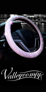 steering wheel cover for women bling diamond crystal rhinestone sparkle glitter pink colorful
