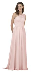 pearl pink bridesmaid dress