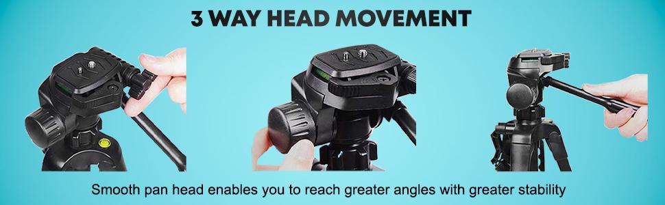 3 WAY PAN HEAD