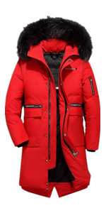 red down coats