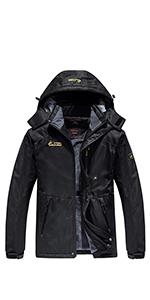 Men's Waterproof Mountain Jacket Fleece Outerwear Windproof Ski Jacket Snow Jacket Raincoat