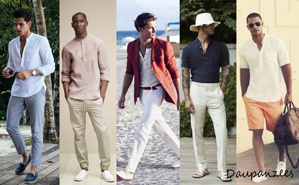 mens long sleeve linen shirt