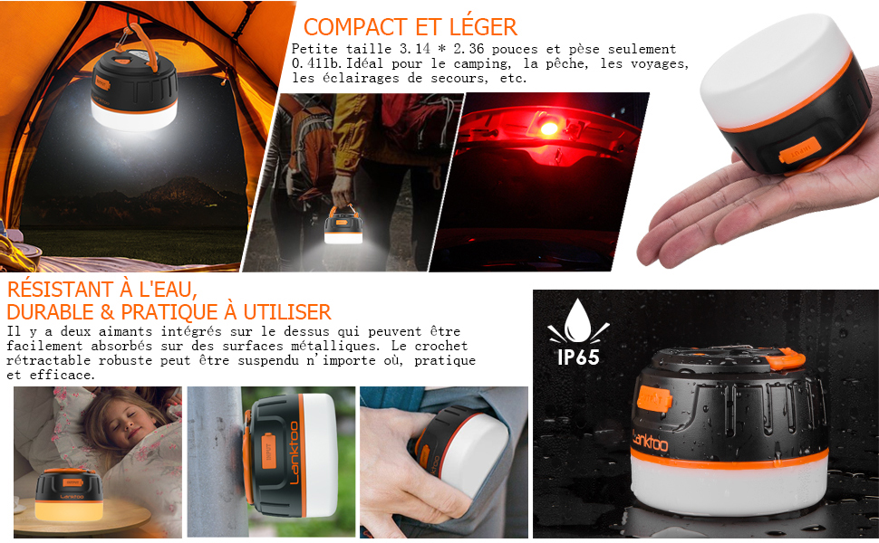 Black Diamond Voyager DEL Lanterne Camping Randonnées Pêche d/'urgence BLK