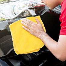 Autoamerics car cleaning washing car wash microfiber cloth towel hybrid car wax spray mirror shine
