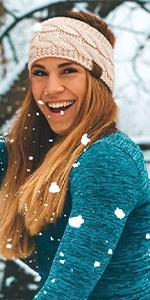 warm lined winter headband