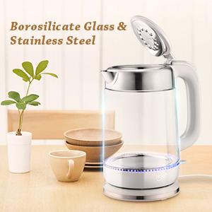 borosilicate glass kettle