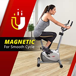 Magnetic Upright Bike Fitness Exercise