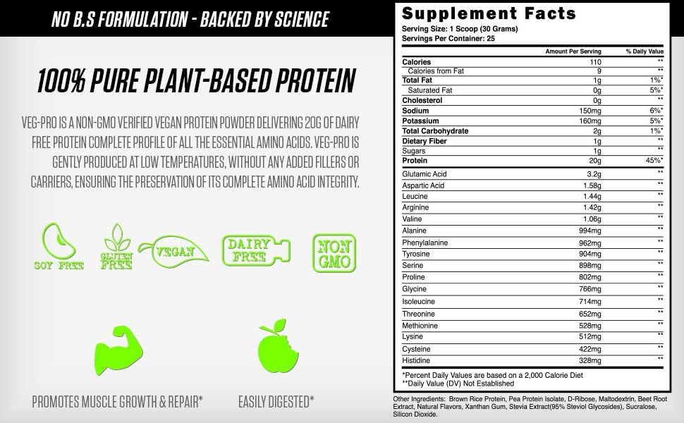 Veg pro protein vegan