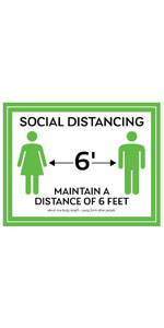 Social Distancing Maintain A Distance Of 6 Feet
