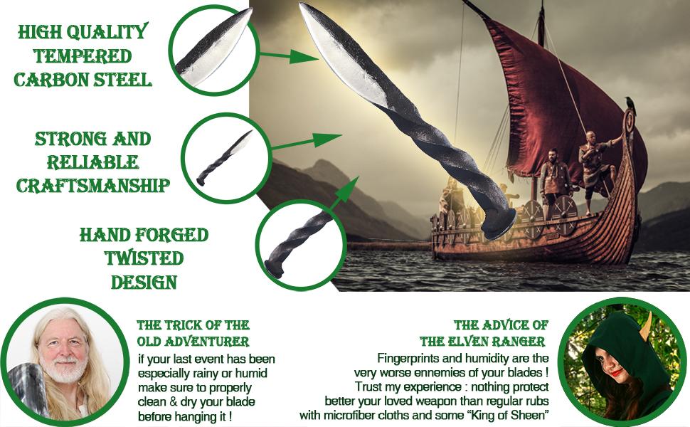 # Mythrojan viking IMCF shieldmaiden reenactment knight medieval renaissance renfair knife SCA