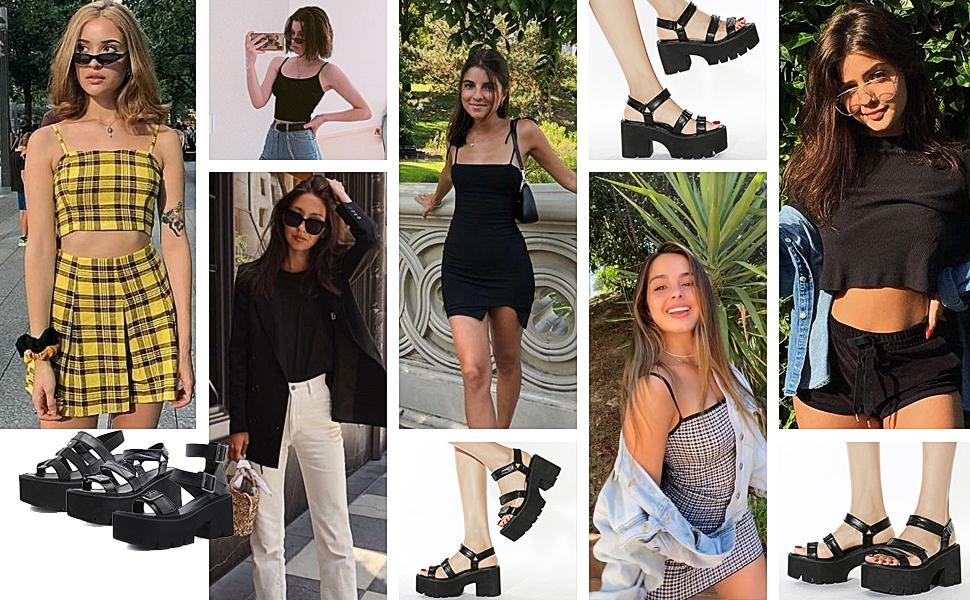 CYNLLIO Women's Platform Sandals