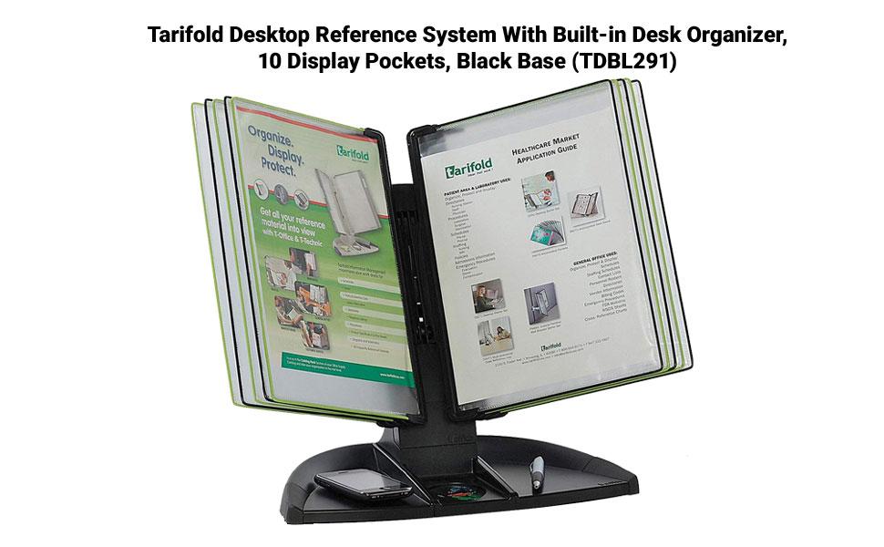 Tarifold Desktop Reference Starter Set with Ten Display Pockets D291 20 Sheet Capacity