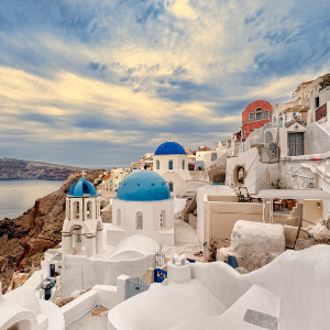 modern monet greek greece santorini pink picasso paint by numbers kit oprahs favorite things