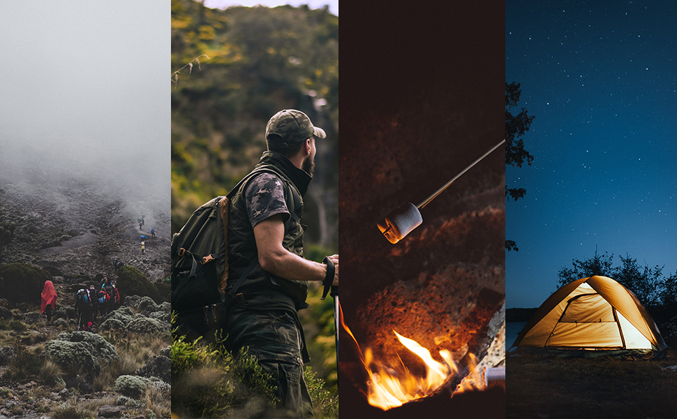 Camping hiking travel around explore the nature outdoor living