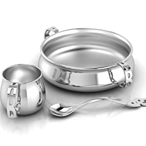silver baby gifts cups spoons bowls hampers gift sets photo frames rattles cutlery sets bracelets