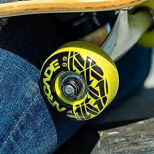 Arcade skateboard wheel bearings