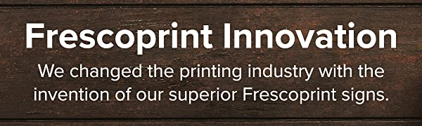 Frescoprint premium wood sign custom and personalized for decoration gifts