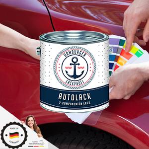 Hamburger Lack Profi 2k Autolack GlÄnzend Karminrot Ral 3002 Rot Im Set Decklack Hochdeckend Rostschützend Kratz Und Schlagfest 1 L Auto