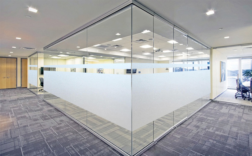 "12/"" X 95 FT ROLL WHITE FROST FILM PRIVACY FOR OFFICE,BATH,GLASS DOOR,STOREFRONT"