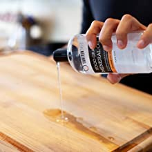 Food Grade Mineral Oil to condition and restore wood products like cutting boards and countertops
