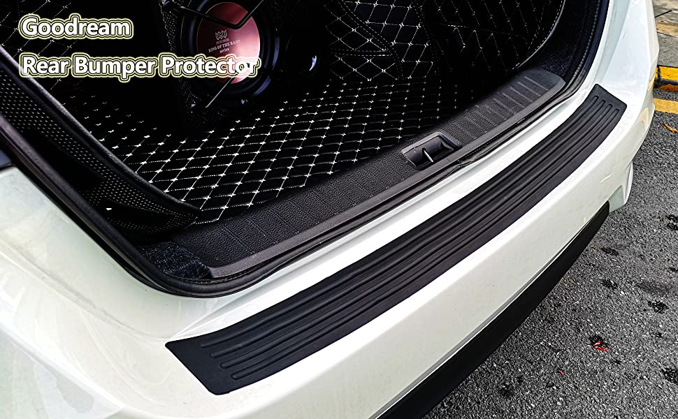Intget Rear Bumper Guard Protector Trunk Door Entry Sill Guard Scratch-Resistance Rubber Cover Protector for Honda Accord Accessories 90cm, 35.43 inch