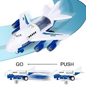 blue push airplane toy