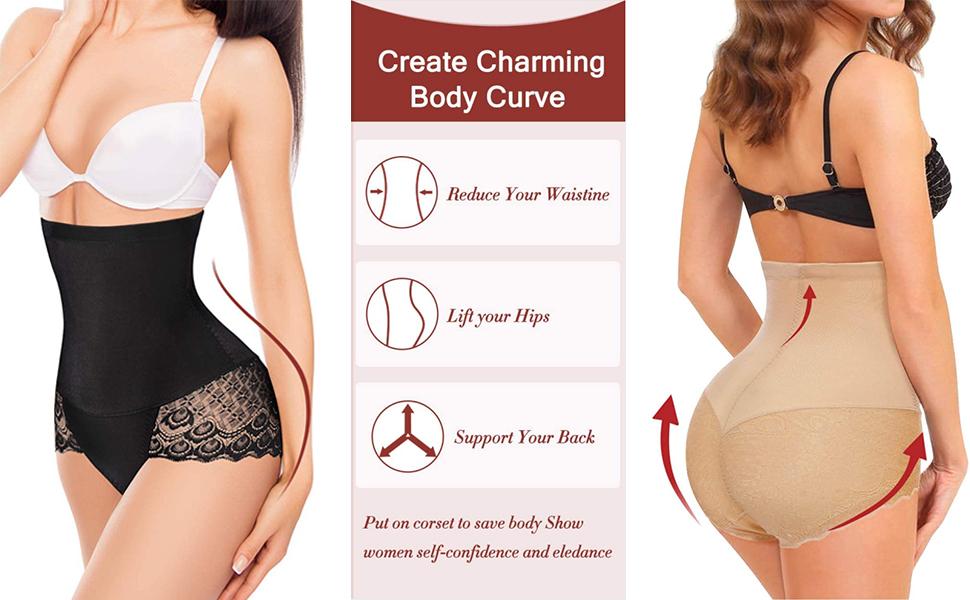 Women Butt Lifter Shapewear Hi-Waist Tummy Control Body Shaper Panty Waist Trainer