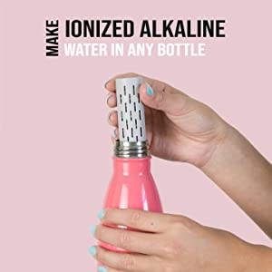 gofiltr alkaline water bottle infuser filter ph 9.5 alkalizer mineral natural electrolytes magnesium