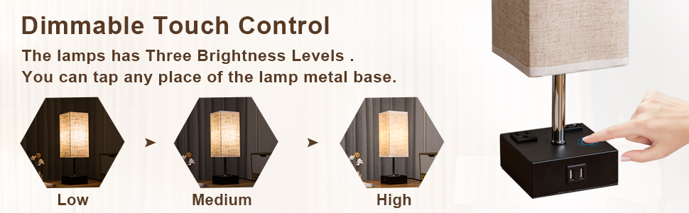 touch lamps for bedroom