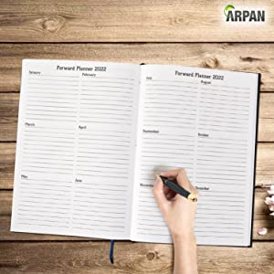 monthly planner pages, Christmas gifts & planning pages & space for useful phone numbers