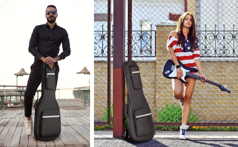CAHAYA Electric Guitar Bag Padded Gig Bag Soft Case 41 40 inch 41inch 40inch lightweight carrying