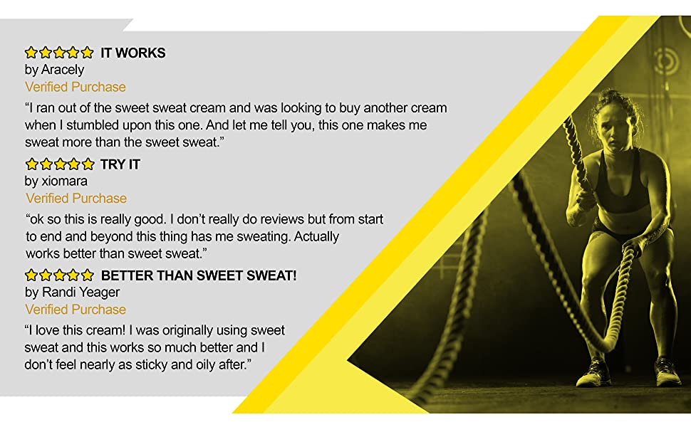 sweet sweat fat burner burning cream for weight loss for women and men