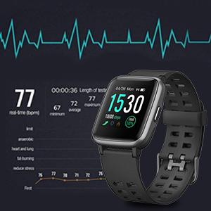AIMIUVEI Smartwatch, Reloj Inteligente Impermeable IP68, Pulsera ...
