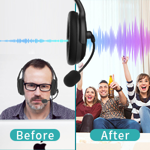 USB 3.5mm telephone headset with microphone, computer headset with mic, wired headphone for skype