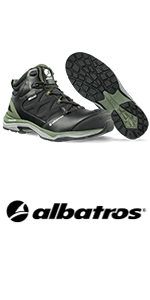 Albatros Ultratrail Olive CTX Mid Safety Shoe Work Shoe