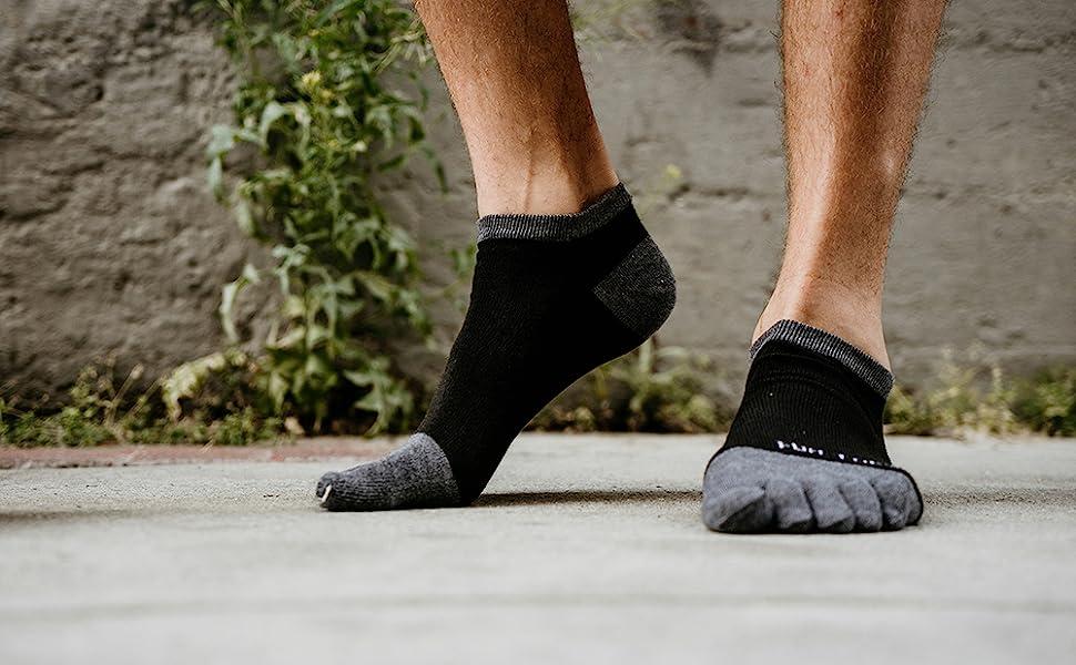 Hot Men/'s Women/'s Socks Pure Cotton Sports Five Finger Socks Toe Socks  VU