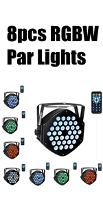 8Pack RGBW Stage Lights