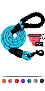 5 Feet Reflective Dog Rope Leash with Comfortable Padded Handle