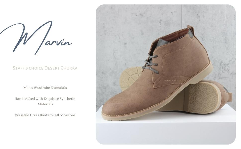 MARVIN, leather chukka, mens chukka, sneaker chukka, dressy sneaker, chukka boots