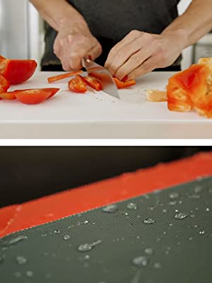 chopping slicing vegetables and meat mat board nonslip