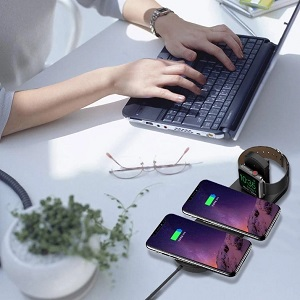 Wireless Charger 4in1 Compatible with Apple Watch amp; AirPods 2 amp; Pencil Charging Dock Station